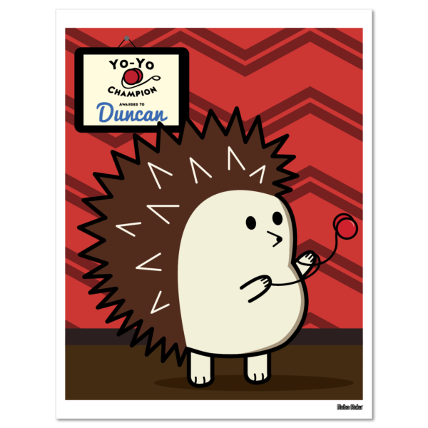 Duncan the Hedgehog Art Print