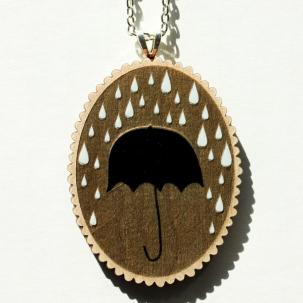 rainy day necklace